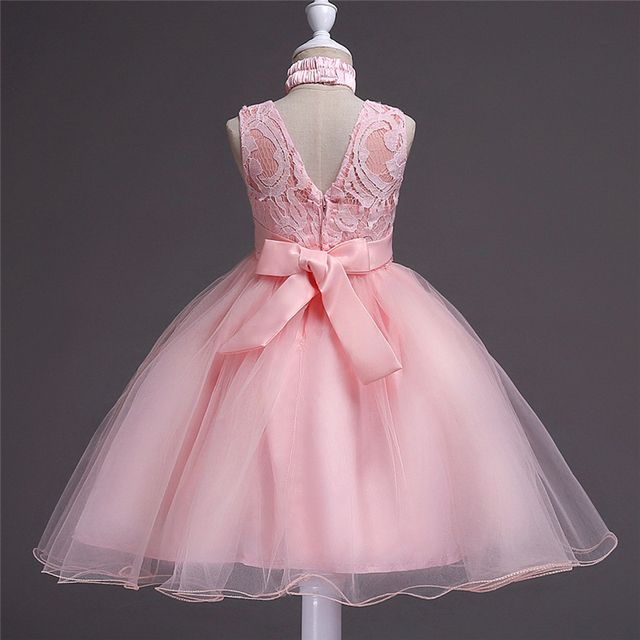 caf03f059d419 Bébé 2-15 ans filles adolescentes robes de princesse fille brodé rose robe  enfants robe