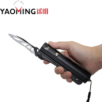 2000lm CREE Q5 Knife Flashlight 3 Modes Outdoor Camping Torch Lamp Light Waterproof Self Defense Led