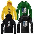 2016 New Hip Hop Hoodies Brand Man and Women Anime Attack on Titan Hoodies Lnvestigation Corps Hoodies Thick Cotton Sweatshirt