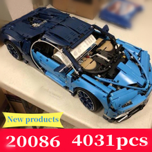 MOC Lepin 20086 4031Pcs Technic Series The 42083 Blue Chiron Racing Car Set Building Blocks Bricks Kids Toys Car Model Gifts