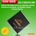 Original nuevo ASB Caja/AsanSam (Paquete con 2 cables) para samsung flash y desbloqueo, para blackberry ............ + envío Libre