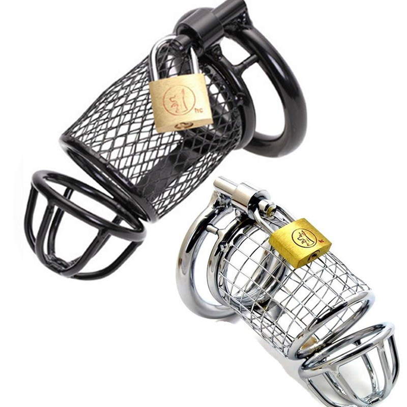 40 45 50mm Chastity Device Metal Chastity Cage Cock Lock Ring Penis Ring Adult Game Sex Toys for Men G7-1-4
