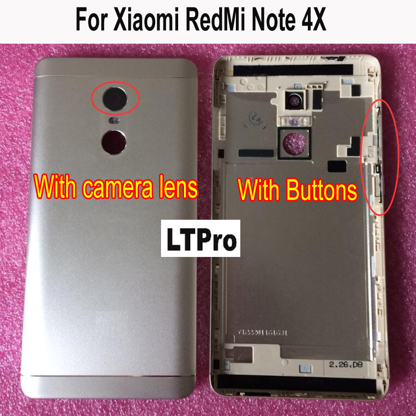 For <font><b>Xiaomi</b></font> <font><b>Redmi</b></font> <font><b>Note</b></font> 4 Note4X Snapdragon 625 or MTK X20 Version Spare Parts <font><b>Back</b></font> Battery <font><b>Cover</b></font> Replacement image