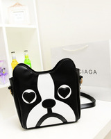 Aresland 2017 Cute Dog Cartoon Pu Leather Women Crossbody Bags Mini Lovely Women Bags For Mobile