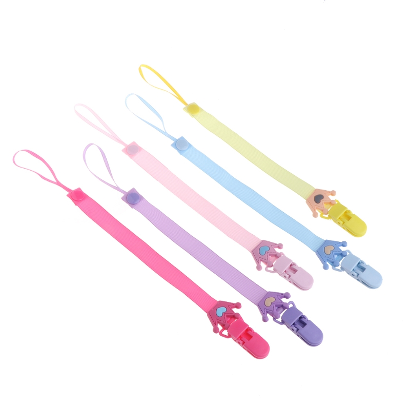 Baby Pacifier Chain Clip Holder Nursing Girl Teether Dummy Soother Nipple Strap