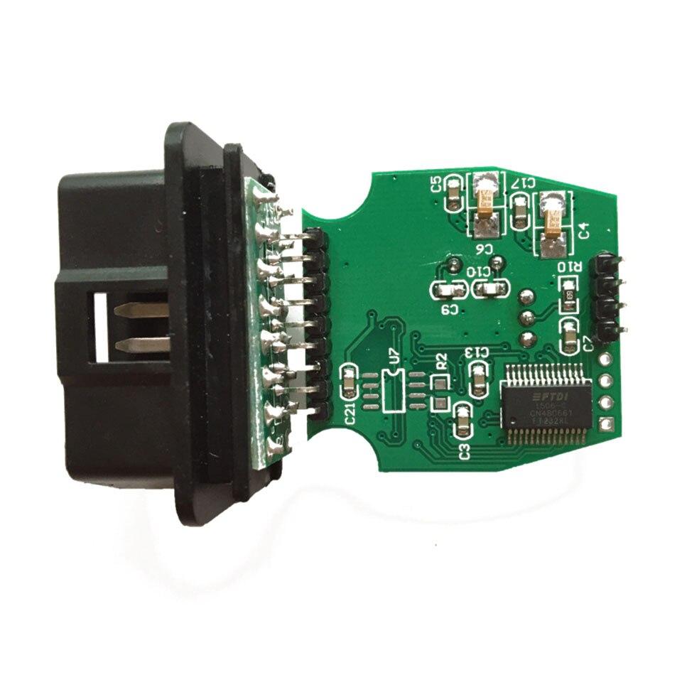 10pcs/Lot DHL FAST Latest V13.00.022 OBD2 Single Cable MINI VCI j2534 Vehicle Communication Scanner FT232RL MINI-VCI For Toyota