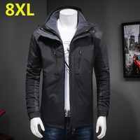 high quality 10XL 8XL 6XL 5XL 4X Man Winter Waterproof Two in one Jacket zipper Hoodie Cotton Padding Coat Trekking Travel
