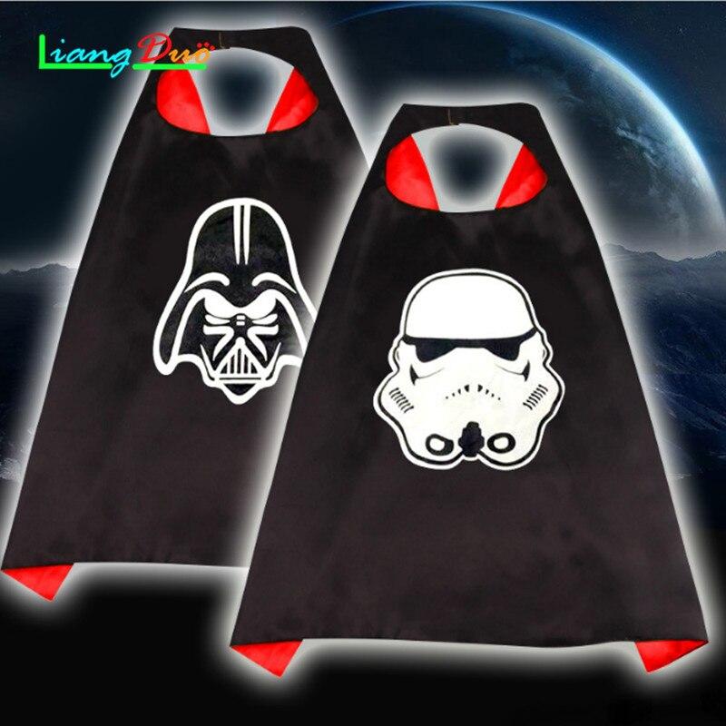 Methodisch Star Darth Vader Kostuum Voor Kids Darth Vader Jumpsuit Mantel Kleding Met Cape Speelgoed Kerstvakantie Cosplay Voor Jongen Meisje Exquisite Traditional Embroidery Art