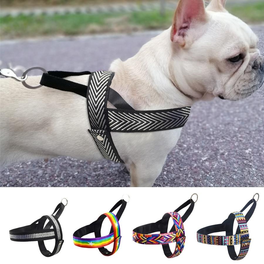 Não-pull Arnês Do Cão Para Small Medium Large Dog Pitbull Bulldog de Estimação Cinta Trela Do Cão Treinamento de Segurança Curta arnês colete