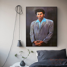 Seinfeld Kramer Art Canvas Print Painting Poster Wall Pictures For Room Decorative Home Decor Silk FabricNo  Frame