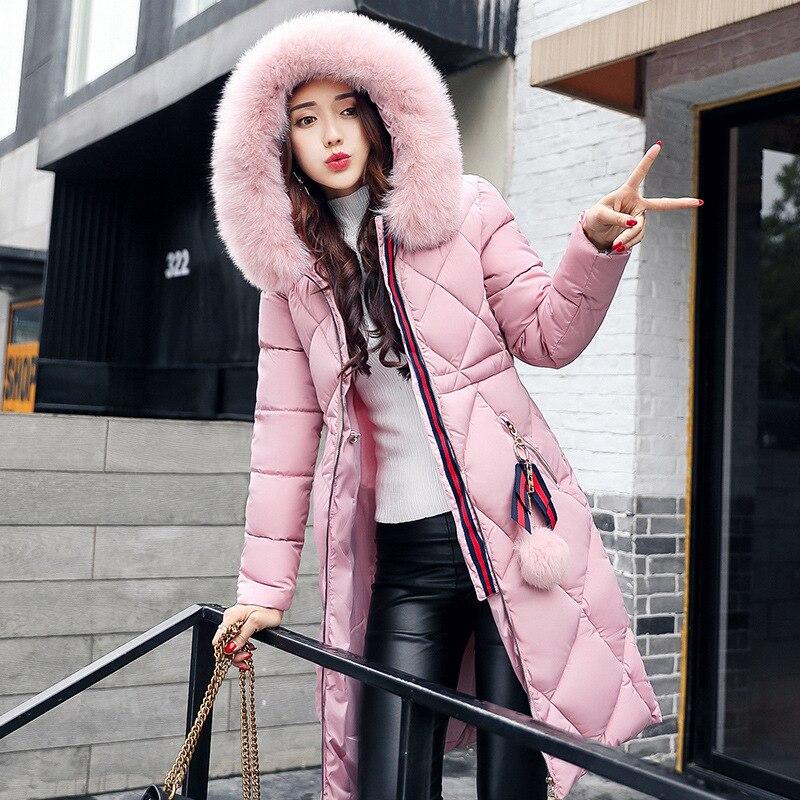 2017 Женская зимняя куртка и пальто женщин высокое качество теплые женские утолщение Теплая парка капюшон пальто Подпушка куртка