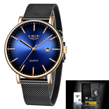 Top Brand Luxury LIGE Mens Watches Casual Fashion Watch Men Net with Waterproof wristwatch Analog Quartz Watch Relogio Masculino недорого