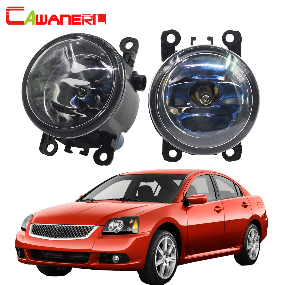 Cawanerl 1 Pair 100W Car Halogen Fog Light Daytime Running Lamp DRL 4300K 12V For Mitsubishi Galant DJ_ ED_ EF_ Saloon 2003-2007 cawanerl 1 pair 100w h3 car led bulb 20 smd 2200lm white 6000k automotive fog light daytime running lamp headlight low beam drl