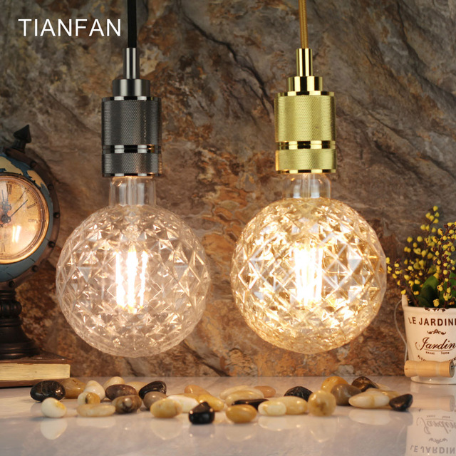 Tianfan G125 Globe Vintage Led Bulbs 4w Edison Bulb Filament Decorative Light Warm
