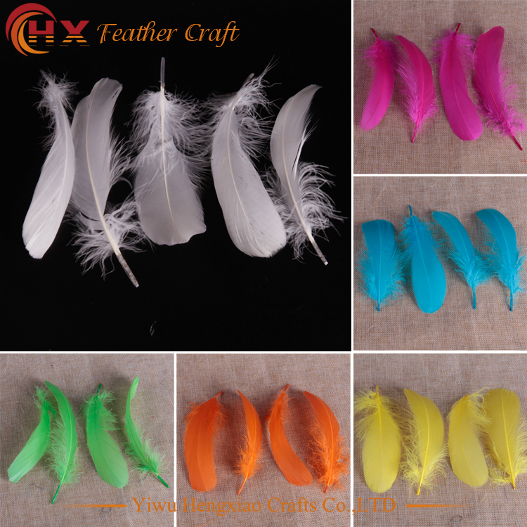 20pcs random colors 13-18cm DIY Earrings Jewelry Accessories Floating Feathers Goose Feathers