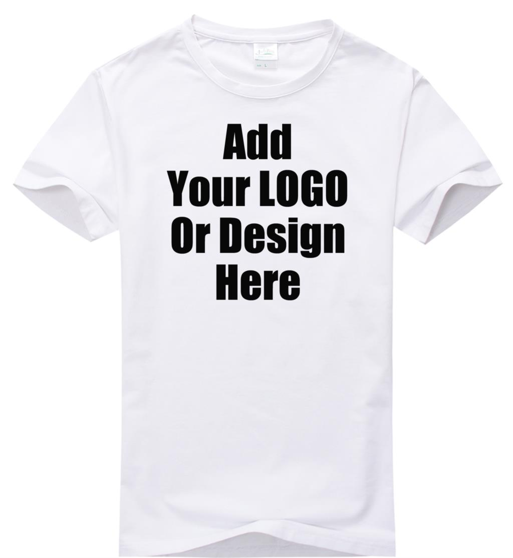 Design t shirt embroidery - High Quality Custom Logo Shirt Plain Tshirt 200 Gram Logo Diy Tshirt Customized Pattern Print Embroidery