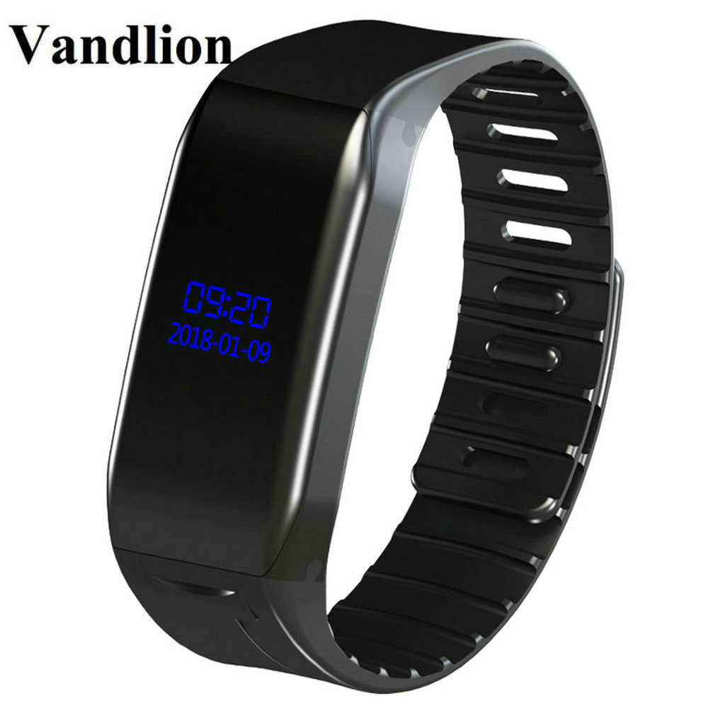 Vandlion Digital Voice Recorder Wrist Watch Voice Activated Recording 1536kbps Dictaphone MP3 Recorder OLED Screen Business V86 vandlion v2 digital voice recorder wrist watch audio rechargeable dictaphone mp3 player mini recording pen recorder for business