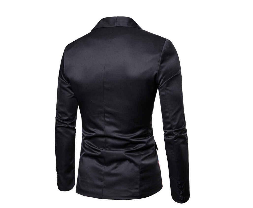 NIEUWE Mens Suit Blazer Slim Bloemen Formele Jas Wieden Party Casual Een Knop Smoking Tops Zwart Groen Paars Geel