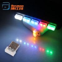 BOSMAA 100pcs USB Mini LED Car Atmosphere Lights Cigarette Lighter Decorative Lights for Computer Car MP3 Player Red/Blue/White
