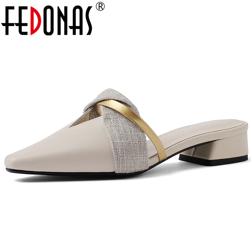 FEDONAS Fashion Sexy Mules Shoes Woman High Heels Genuine Leather Pointed Toe Party Wedding Shoes Spring Summer Sandals FEDONAS Fashion Sexy Mules Shoes Woman High Heels Genuine Leather Pointed Toe Party Wedding Shoes Spring Summer Sandals