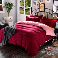 1 piece 100% polyester high quality active dyed duvet cover solid color super soft thick fabric various sizes