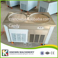 110V 220V flat pan freezing ice cream machine,ice cream cold pan machine,ice cream roller machine