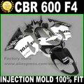 Kits de moldeo por inyección para HONDA CBR 600 F4, carenados 1999 2000 CBR600 99 00, kit de carenado REPSOL blanco y negro, piezas de plástico V4