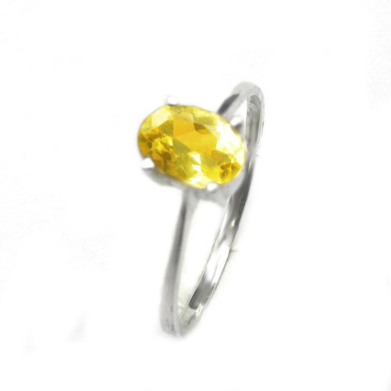 LANZYO 925 argent Sterling natuarl Citrine anneaux saphir grenat filles cadeau d'anniversaire bijoux fins pour femme 2018 nouveau j0507