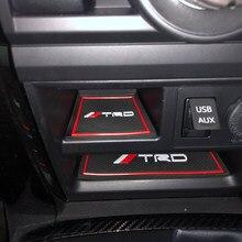 ¡LHD! Para Toyota 4Runner 2010-2021 colorido TRD Puerta de coche de ranura de la puerta para taza Anti-Slip pastillas Kit 24 *