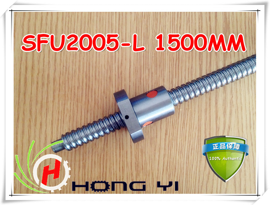 1pcs SFU2005 1500mm Rolled Ball screw +1pcs RM2005 ballnut + end machining for BK/BF15 standard processing