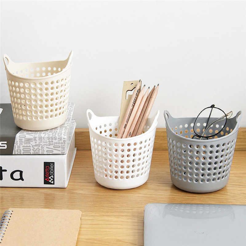 Mini Desktop 11.3x11 cm Cesta De Armazenamento Cestas De Armazenamento Organizador Titular Box Bag Para Limpeza Vegetal Coador Cozinha Ferramenta