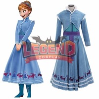 Olaf's Adventure Snow Queen 2 Costume Adult Anna Costume Womens Cosplay Costume Party Dress