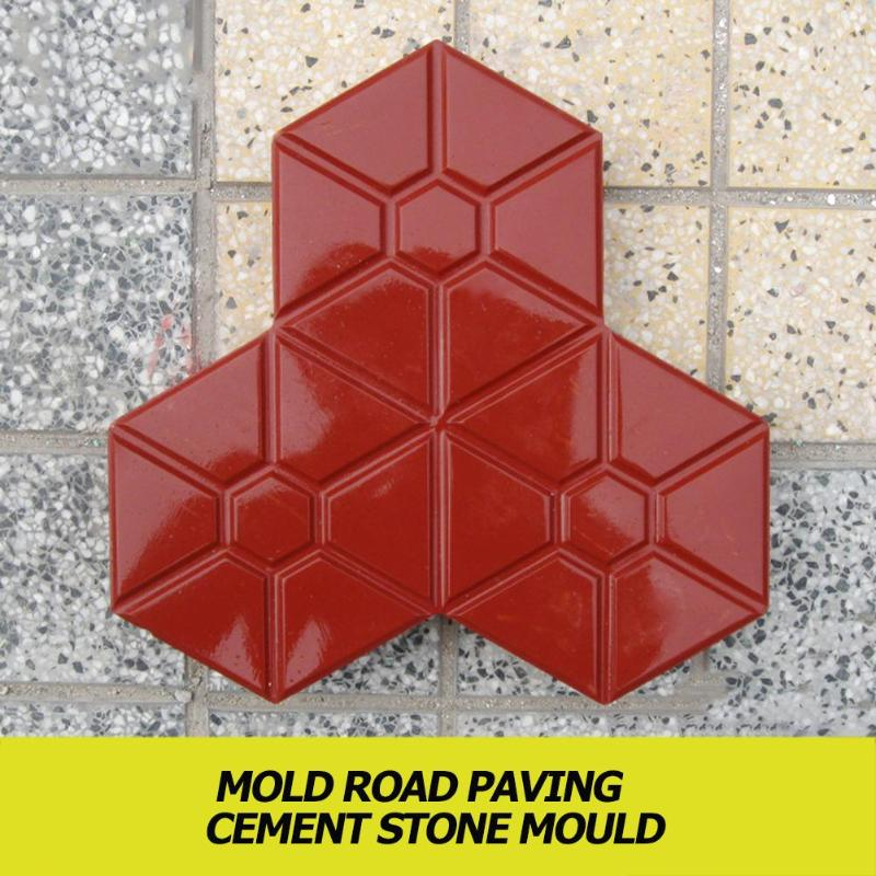 DIY Square Trail Concrete Plastic Path Maker Mold Manually Paving Cement Brick Molds Garden Stone Road Concrete Molds Pavement