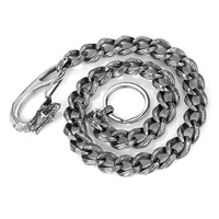 The new high end foreign trade jewelry titanium steel men 's waist chain simple retro tide men' s accessories