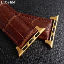 LIOSEN Watchband for iWatch Apple 38mm 42mm Genuine Leather Strap