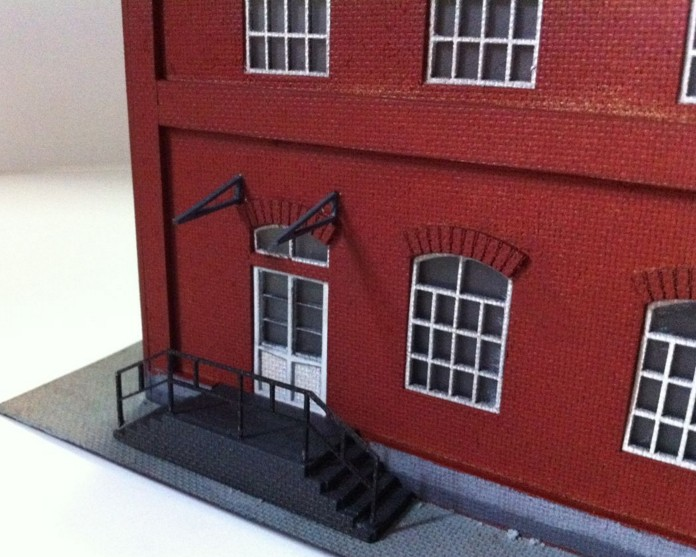 HOT SALE] 1:87 Model Train ho scale red residential building
