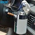 O projeto especial new plum blossom padrão cinzeiro do cigarro do carro com ganchos tampas Luzes Led para Home office auto preto branco cor