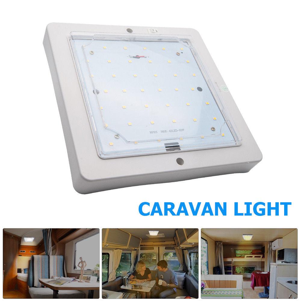 9W 12V Car Caravan LED Indoor Roof Ceiling Interior Lamp Dome Light Warm White