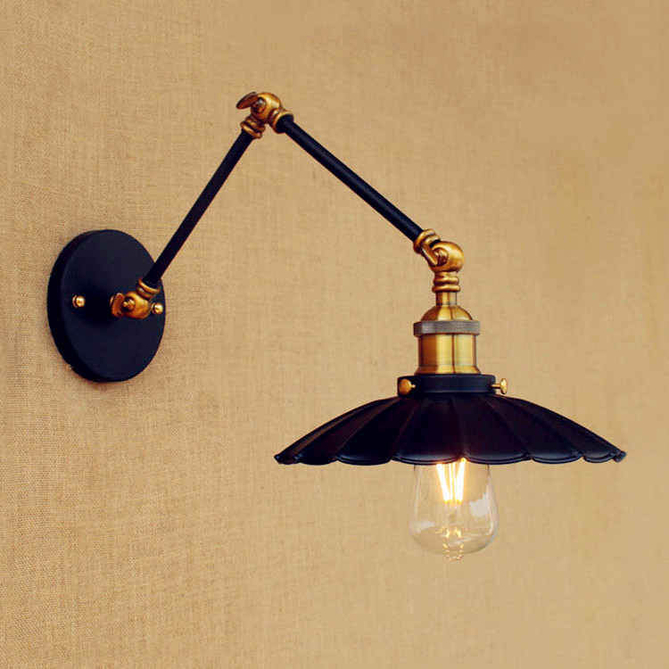 20cm Retro Loft Industrial Wall Lamp Vintage Swing Long Arm Wall Light Fixtures Edison Wall Sconce Appliques Murales Luminaire sikote portable cooler bag insulation lunch box solid tote bag waterproof crossbody picnic bag green lancheira termica marmitas