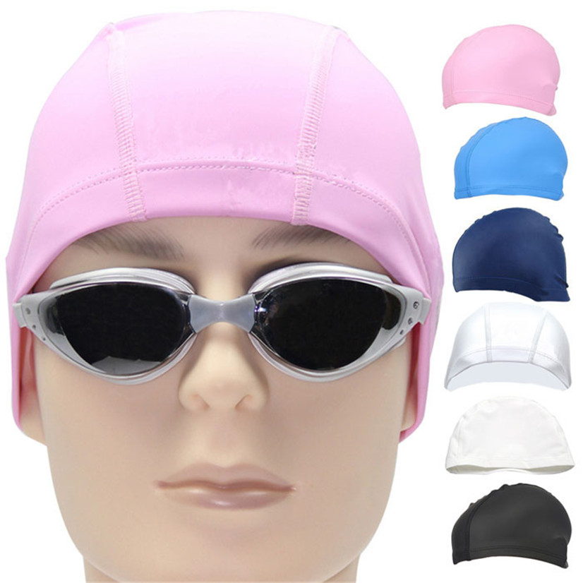 FishSunday Outdoor sports Unisex Adult PU Swim Swimming Hat Cap One Size Fit All comfortable convenient Drop shipping August1