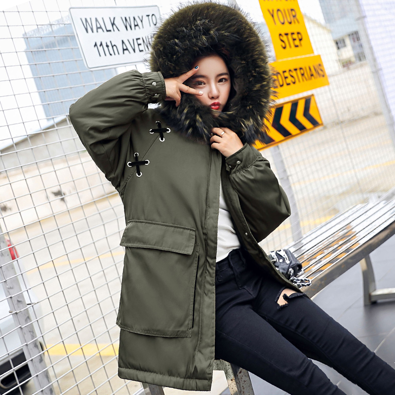 Oversize 2019 Fashion Winter Jacket Women Hooded With Fur Outwear Ladies Coat Coats Long   Parka   High Quality Womens Jackets