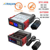 Ac 110 v 220 v 12 v 24 v dupla digital temperatura umidade controlador sht2000 STC-3028 termostato humidistat terômetro higrômetro