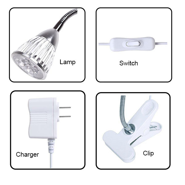 LED Grow Light Garden Flowering Plant Lamps Flexible clamp hot sale LED Grow Light