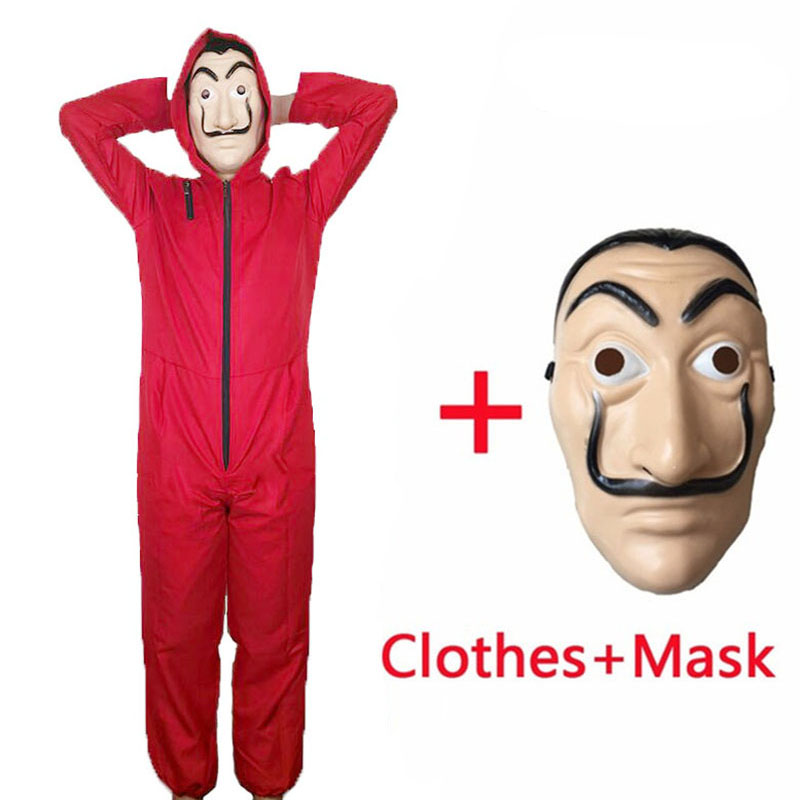 Salvador Dali La Casa De Papel Costume & Face Mask Cosplay The House Of Paper Role Playing Party Halloween Money Heist S-XXL