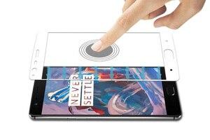 Image 4 - 1PCS Gehärtetem Glas Für Oneplus 3T Bildschirm Schutz One Plus 3 3T A3000 Volle Abdeckung für Oneplus 3T 2,5 D Curved Rand Film HATOLY