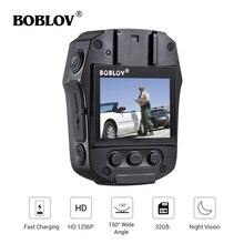 BOBLOV PD50 video camera Body Camera HD 1296P IR Night Vision 32GB/64GB Security Pocket Police Video Recorder