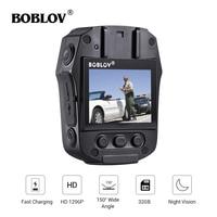 BOBLOV PD50 video camera Body Camera HD 1296P IR Night Vision 32GB/64GB Security Pocket Police Camera Video Recorder