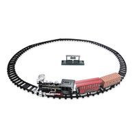 Kids Electric Railway Train Toys Classical Train Long Track Railroad Light And Sound Track Train Model Children Toys