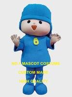 Голубой мальчик талисмана Пользовательские взрослый размер Герой мультфильма Косплей Карнавальный Костюм 3371