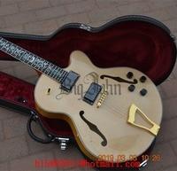 Semi Hollow Electric Guitar ,Natural Mahogany Body Tree of Life Inlay Rosewood Fingerboard Gold Hardware BJ 127 1